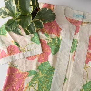 • vintage open floral cropped kimono •